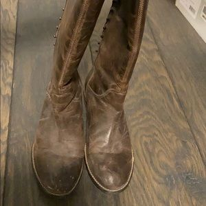 Tall brown zip back boots by Nordstrom's BP